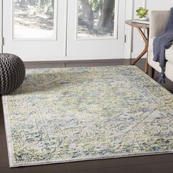 Parramore Oriental Green/Blue Area Rug Rug Size: Rectangle 7'10
