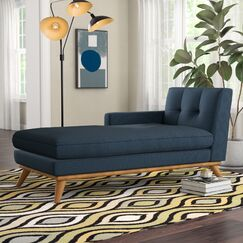 Johnston Chaise Lounge Upholstery: Azure, Orientation: Left Hand Facing