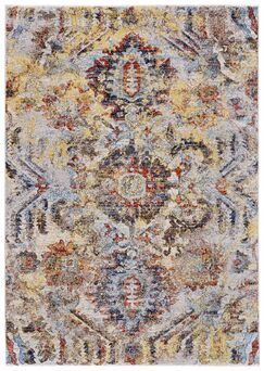 Greenwich Village Cream/Yellow Area Rug Rug Size: Rectangle 1'8