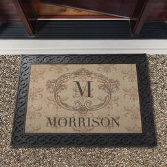 Culbreth Vintage Family Personalized Initial Doormat