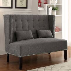 Robeson Traditional Loveseat Upholstery: Gray