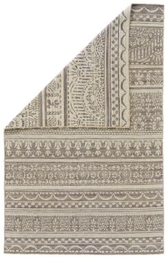 Reiber Hand-Woven Wool Gray/White Area Rug Rug Size: Rectangle 5' x 8'