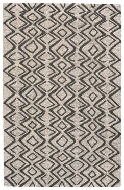 Grider Hand-Tufted Wool Charcoal/Taupe Area Rug Rug Size: Rectangle 8' x 11'