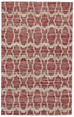 Reich Hand-Woven Red Area Rug Rug Size: Rectangle 3'6