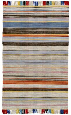 Reichel Flat Woven Wool Gray/Light Blue Area Rug Rug Size: Rectangle 5' x 8'