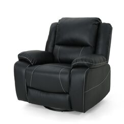 Lambdin Tufted Manual Swivel Recliner Color: Black