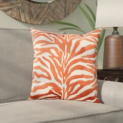 Wolbert Throw Pillow Color: Rust/Beige