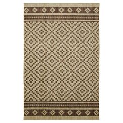 Weinmann Ivory/Brown Area Rug Rug Size: Rectangle 8' x 10'