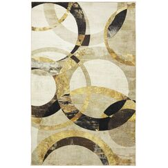 Schermbeck Mirrored Rings Gray Area Rug Rug Size: Rectangle 8' x 10'