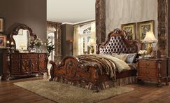 Selma Upholstered Panel Bed Size: Euro King, Color: Cherry