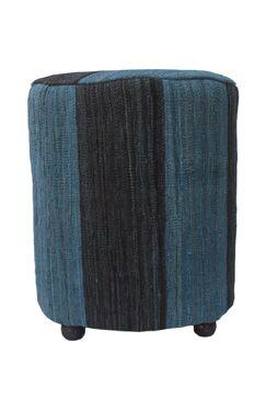 Knopp Ottoman Upholstery: Marjan Blue