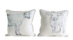 Barryton 2 Piece Animal Cotton Throw Pillow Set
