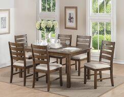 Wickliffe Wooden 7 Piece Dining Set
