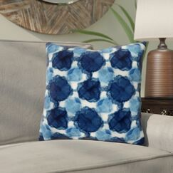 Rangel Circles Throw Pillow Size: 16