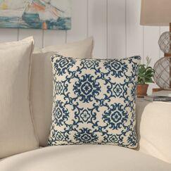Sunbury Medallion Indoor/Outdoor Throw Pillow Size: 17