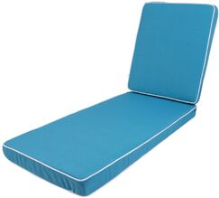 Outdoor Chaise Lounge Cushion Fabric: Blue