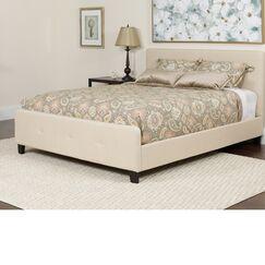 Konen Tufted Upholstered Platform Bed Color: Beige, Size: Full