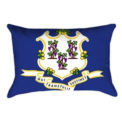 Centers Connecticut Flag Pillow Material/Product Type: Spun Polyester Double Sided Print/Lumbar Pillow