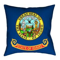Centers Idaho Flag Pillow