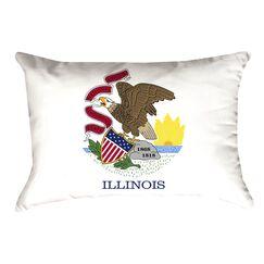 Centers Illinois Flag Lumbar Pillow Material/Product Type: Faux Linen Double Sided Print/Lumbar Pillow