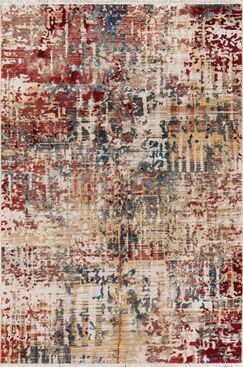 Metheny Red Area Rug Rug Size: Rectangle 9'6