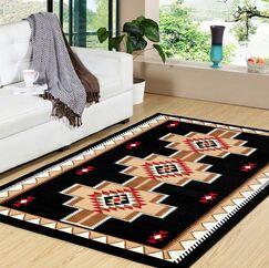 Whisman Premium Black/Beige Indoor/Outdoor Area Rug
