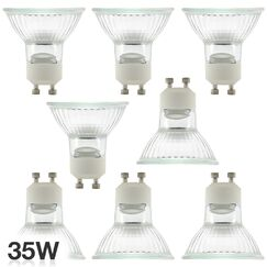 35W GU10 Halogen Spotlight Light Bulb Pack Size: 8