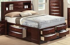 Mulcahey Storage Platform Bed Color: Espresso, Size: Eastern King