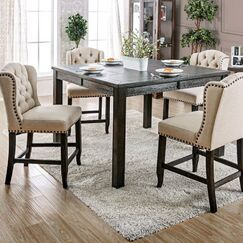 Burta Wooden Counter Height Dining Table
