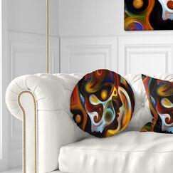 Abstract Textured Effect Digital Art Throw Pillow Size: 16