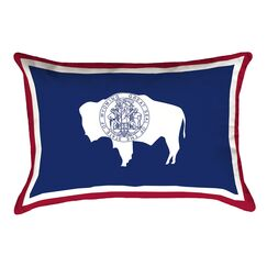 Katelyn Smith Wyoming Flag Pillow Product Type: Lumber Pillow, Fabric: Polyester/Polyester Blend