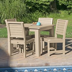 Fonso 5 Piece Dining Set Color: Tuscan Taupe