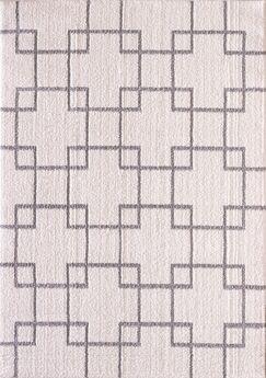 Kempf Cream/Silver Area Rug Rug Size: Rectangle 2' x 3'3