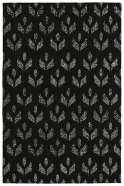 Funderburg Hand-Tufted Wool Black Area Rug Rug Size: Rectangle 8' x 10'