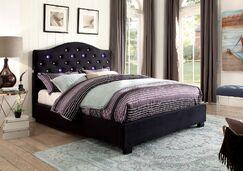 Liska Upholstered Platform Bed Color: Black, Size: Twin