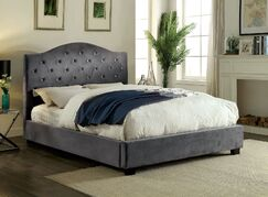 Liska Upholstered Platform Bed Size: California King, Color: Gray