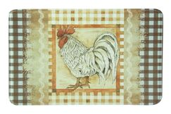 Snell Plaid Rooster Kitchen Mat Mat Size: Rectangle 1'10