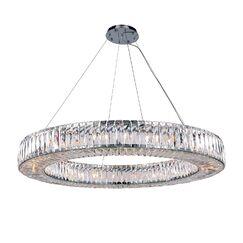 Luker 24-Light Crystal Chandelier Bulb Type: LED
