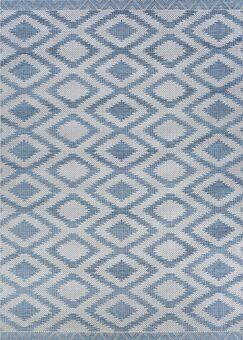 Temple Cloud Blue Indoor/Outdoor Area Rug Rug Size: Rectangle 5'10