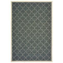 Salerno Simple Lattice Gray Indoor/Outdoor Area Rug Rug Size: Rectangle 2'5