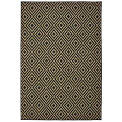 Lipson Diamond Lattice Black/Beige Indoor/Outdoor Area Rug Rug Size: Rectangle 8'6