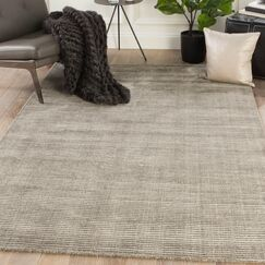 Eastvale Solid Hand-Woven Taupe Area Rug Rug Size: Rectangle 8' x 10'