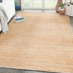 Giselle Solid Hand Woven Tan Area Rug Rug Size: Rectangle 9' x 12'