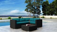 Glendale 5 Piece Sofa Set with Sunbrella Cushion Cushion Color: Spectrum Peacock