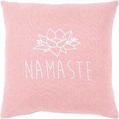 Motto Cotton Pillow Cover Size: 18