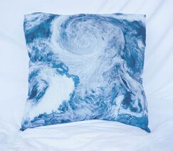 View From Space Cotton Throw Pillow Size: 24