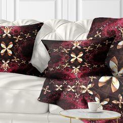 Abstract Fractal Flower Pattern Lumbar Pillow