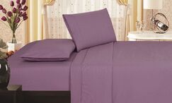 Leddy Soft Touch Vine Embossed Microfiber Sheet Set Size: Full/Double, Color: Plum