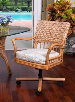 Pringle Tilt Upholstered Dining Chair Upholstery Color: Holy Mackeral Aqua, Color: Antique Honey