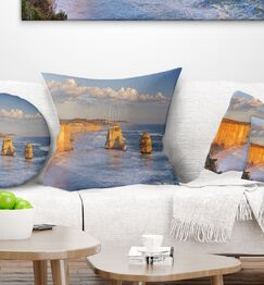 Seashore Twelve Apostles on Ocean Road Pillow Size: 18